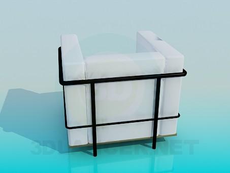 3d модель Стильное кресло – превью