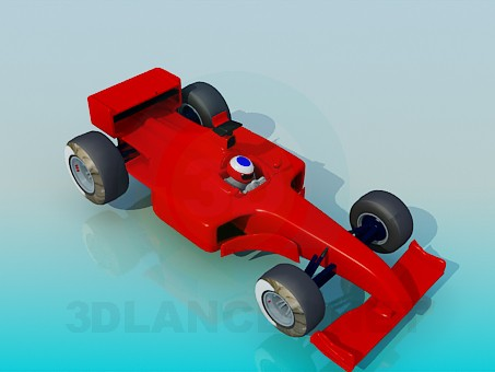 3d model F1 - preview