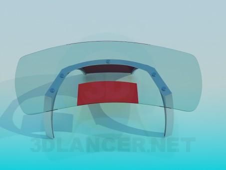 modelo 3D Mesa de vidrio - escuchar