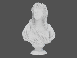 Scultura in marmo Busto di Madame de Wailly