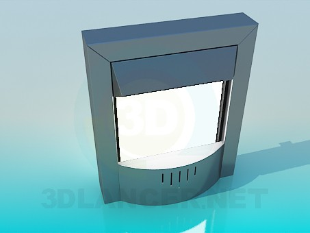 3d model Fireplace electronic - preview