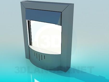 3d модель Камин электронный – превью