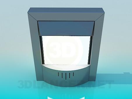 modelo 3D Hogar electrónica - escuchar