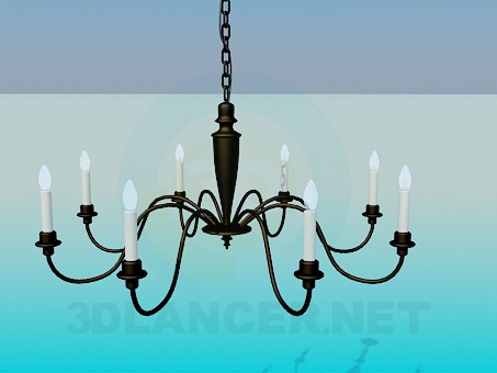 3d модель Люстра со свечами – превью