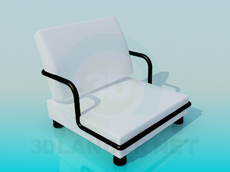 3d model Very low armchair - preview