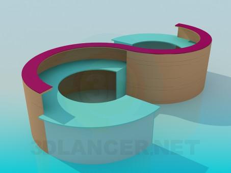 modello 3D Addetto alla reception - anteprima