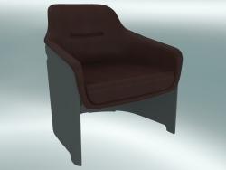 Poltrona AVUS club chair (1920-12, grigio, pelle Florida 2062 marrone)
