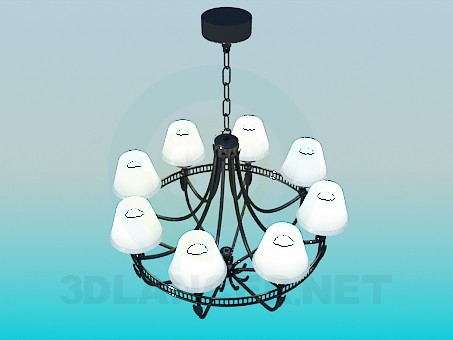 3d model Modern chandelier for the big room download for free on ...