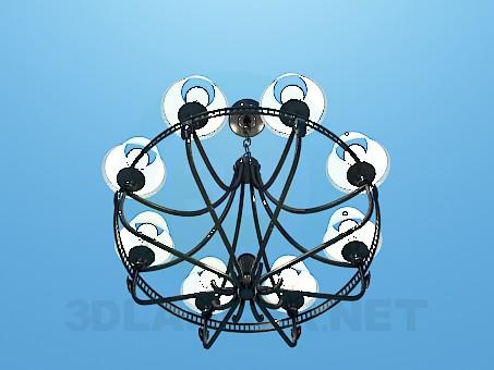 3d модель Современная люстра для большой комнаты – превью