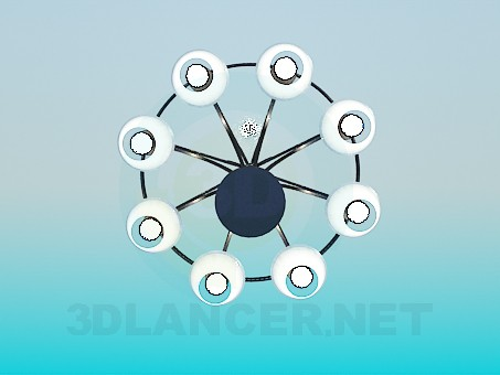 3d model Modern chandelier for the big room - preview
