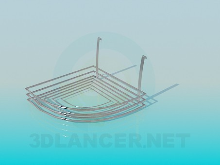 descarga gratuita de 3D modelado modelo Jabonera metal