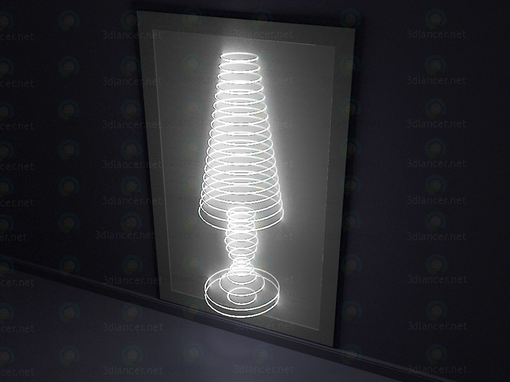 3d model Decorative wall luminaire - preview