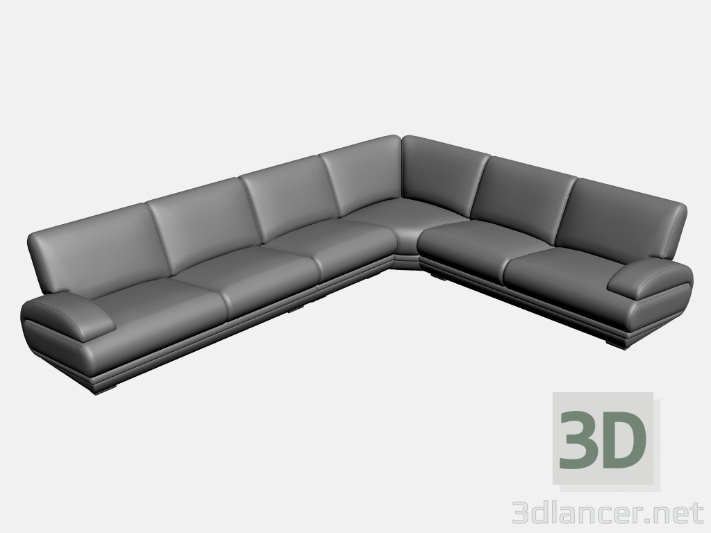 3d model Sofa corner Plimut (option 1) - preview