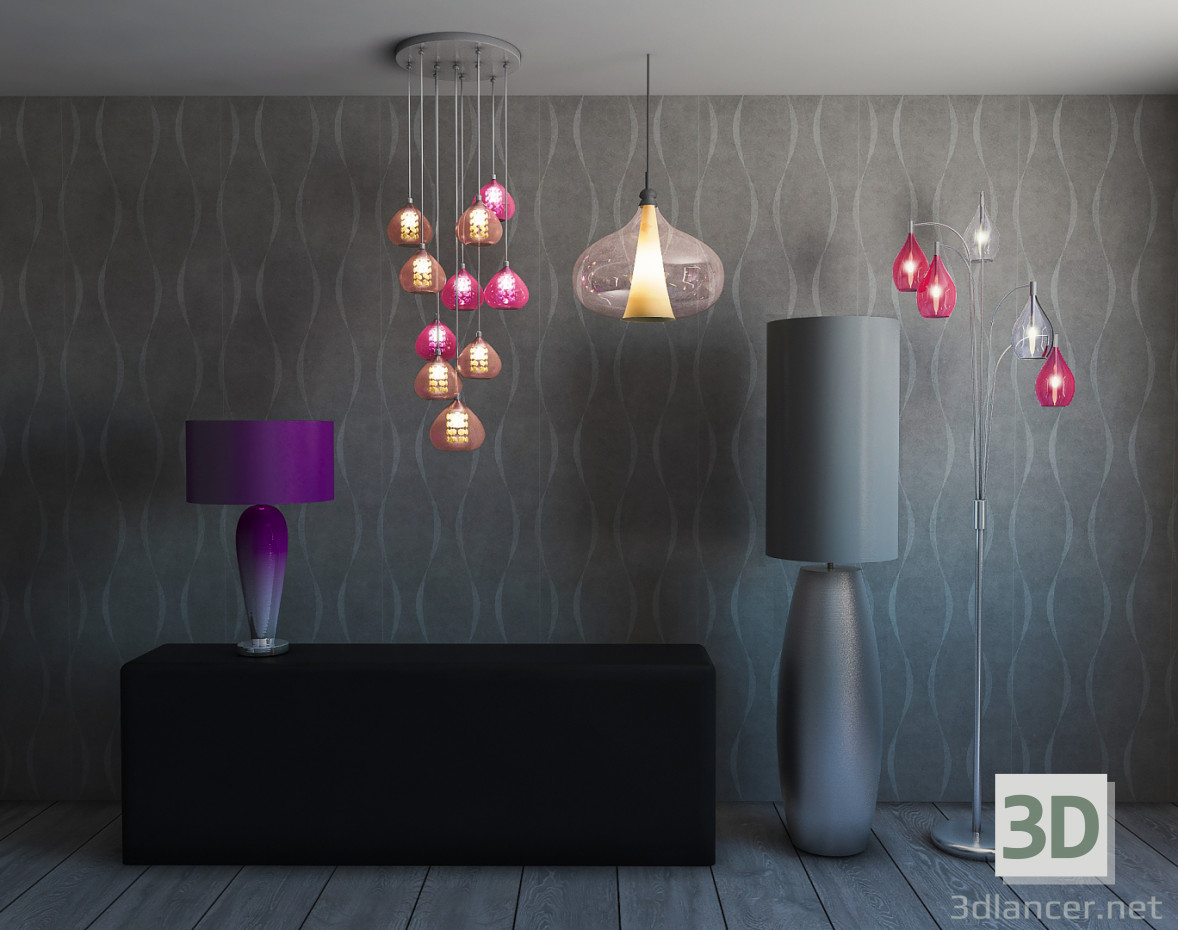 3d modeling Lamps, floor lamps model free download