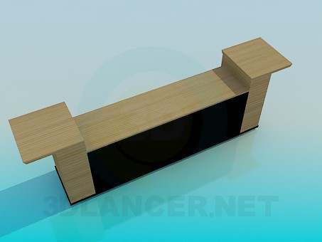 3d model TV table in the living room - preview