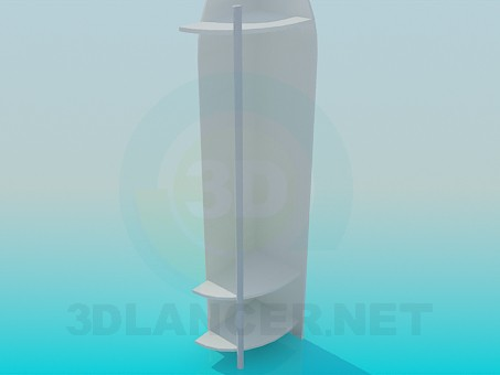 3d модель Угловой шкафчик в прихожую – превью