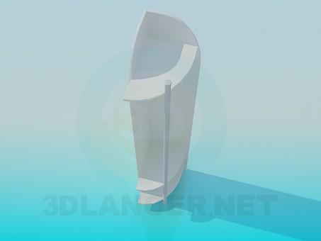 modelo 3D El armario de rincón en el hall de entrada - escuchar