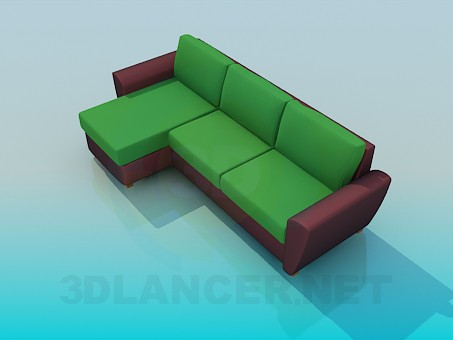 3d model Sofa in two colours - preview
