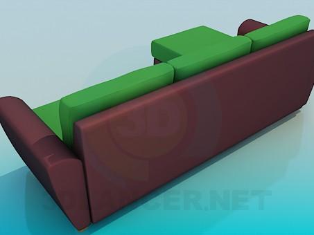 modelo 3D Sofá de dos colores - escuchar