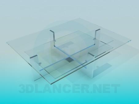3d модель Стол журнальный стеклянный – превью