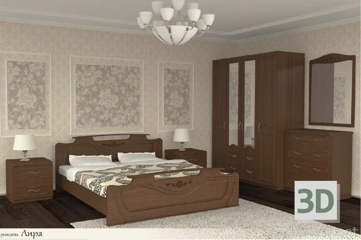 3d Model Bedroom Furniture Id 15119
