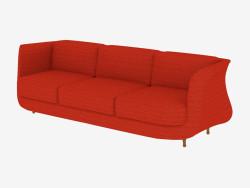 Canapé triple avec revêtement en tissu
