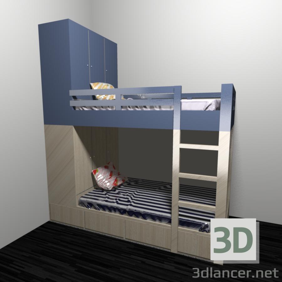 modello 3D Letto a castello letto - anteprima