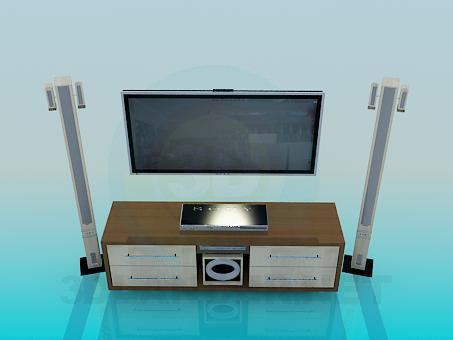 3d modeling Home Theater model free download