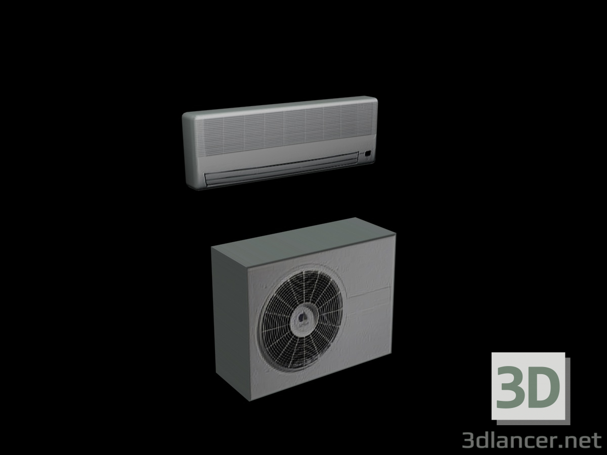 3d model AIR CONDITIONING (EXTERNAL UNIT AND SPLIT) - preview