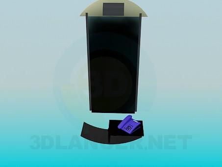 descarga gratuita de 3D modelado modelo El espejo en la pared en el pasillo