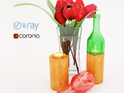 Wine Bottle Votives