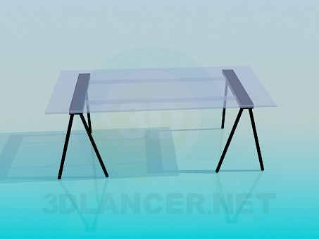 3d model Parietal glass table - preview