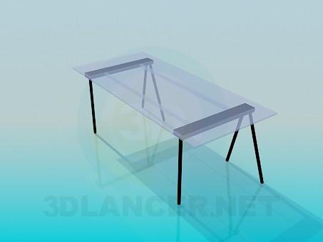 3d model Parietal glass table - preview