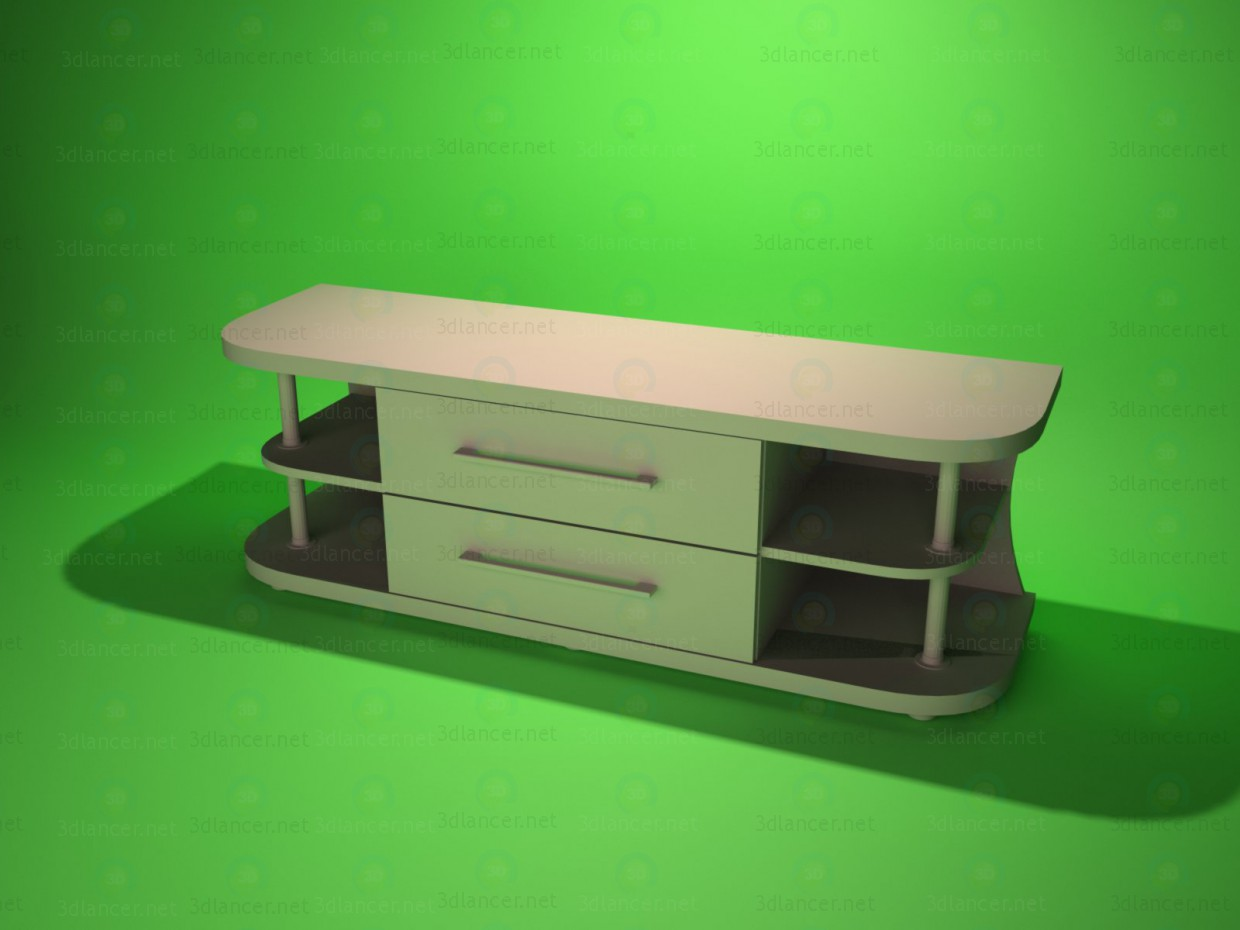 3d model TV stand 3 - preview