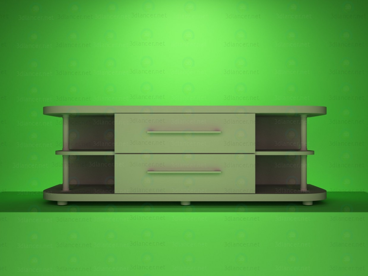 3d modeling TV stand 3 model free download