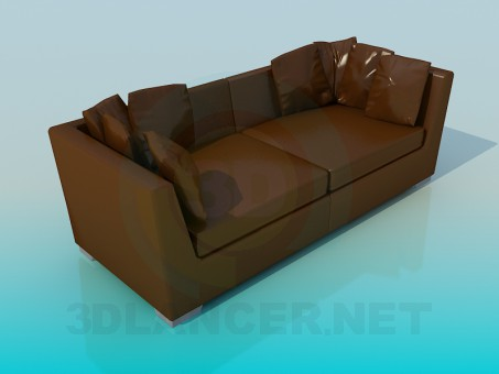 3d model Sofa leather - preview