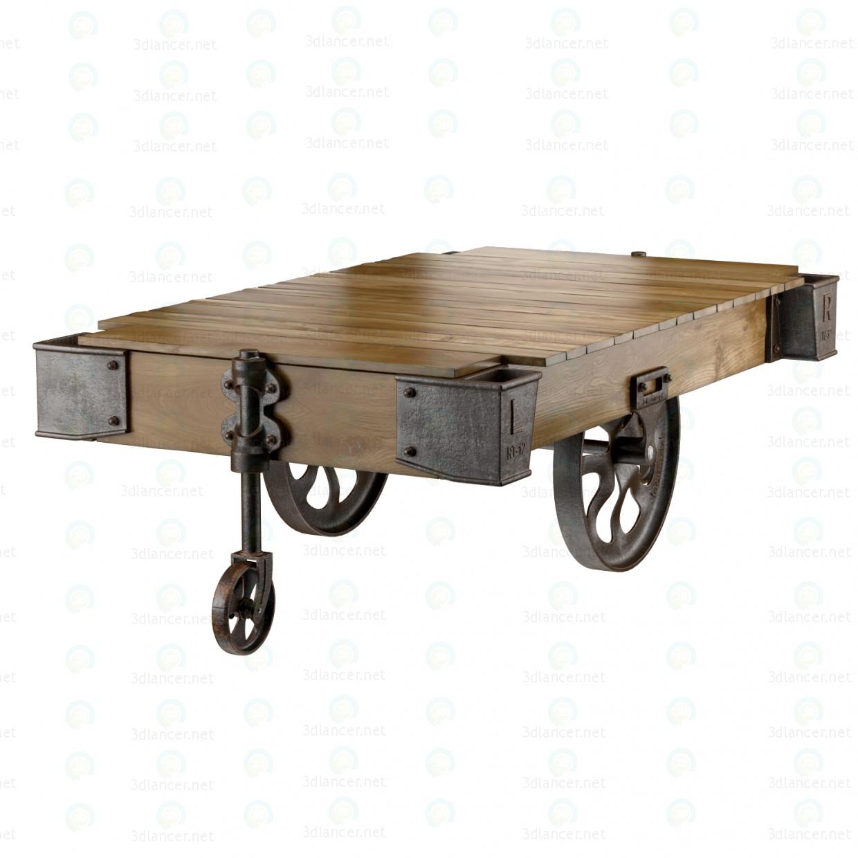 3d  FACTORY CART COFFEE TABLE  model buy - render