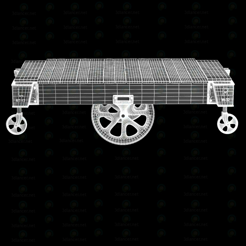 3d FACTORY CART COFFEE TABLE модель купити - зображення