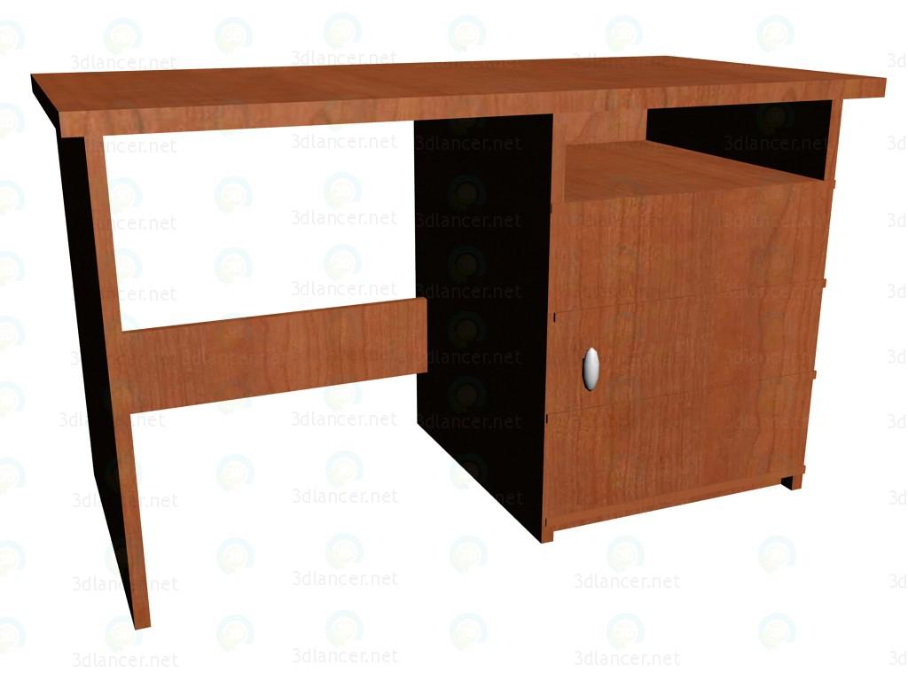 3d model Escritorio con espacio para refrigerador, - vista previa