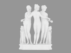 Scultura in marmo The Three Graces (3)