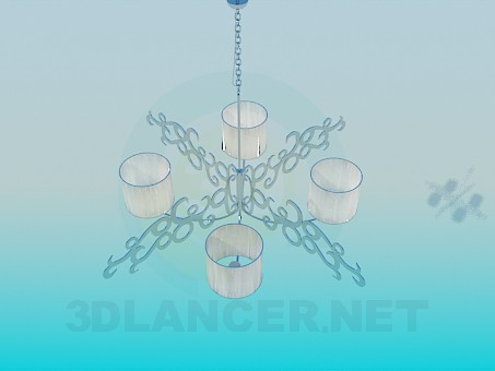 3d model Chandelier for 4 plafond - preview