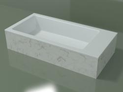 Lavatório de bancada (01R141102, Carrara M01, L 72, P 36, H 16 cm)