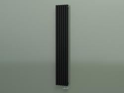 Radiatore verticale RETTA (6 sezioni 1800 mm 60x30, nero opaco)