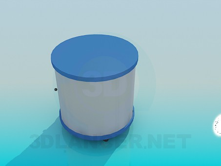 modelo 3D El gabinete de la ronda - escuchar