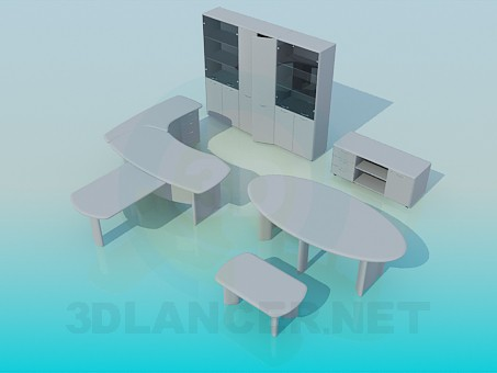 Modelo 3d muebles en la oficina id 8012 for Muebles de oficina 3d model
