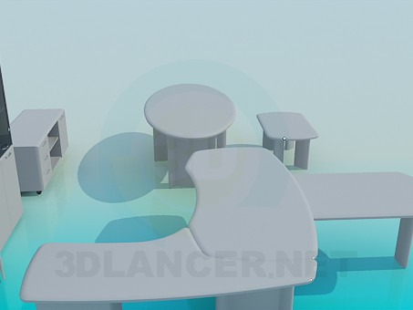 3d model Furniture in the office - preview