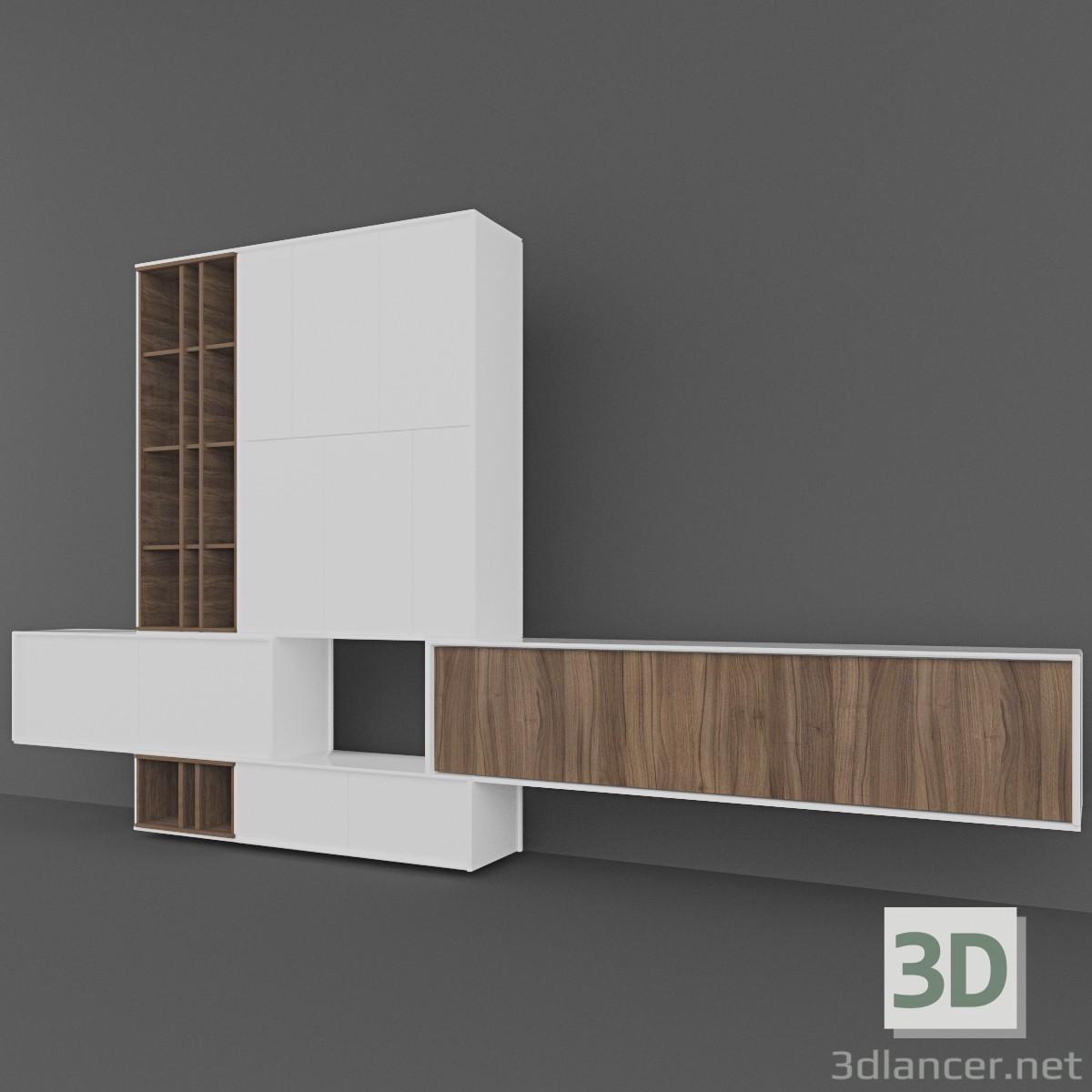 3d Hulsta living room cabinets model buy - render