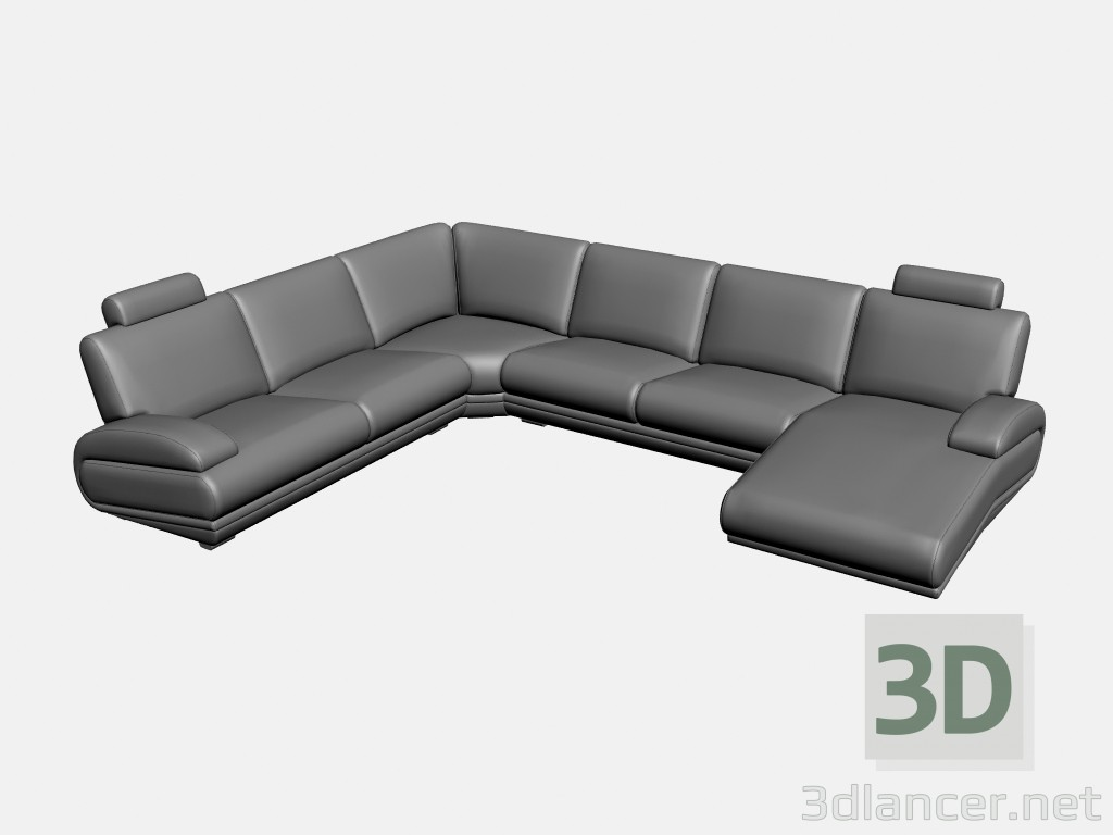 3d modeling Sofa corner Plimut (option 2) model free download