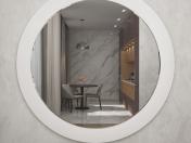 decoración, espejo, marco circular, reflejo