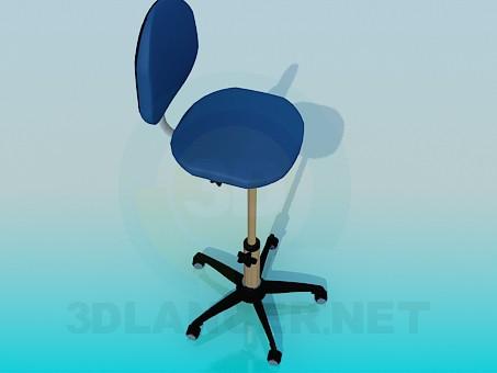 3d моделирование Стул с поднимающейся фиксированной ножкой модель скачать бесплатно
